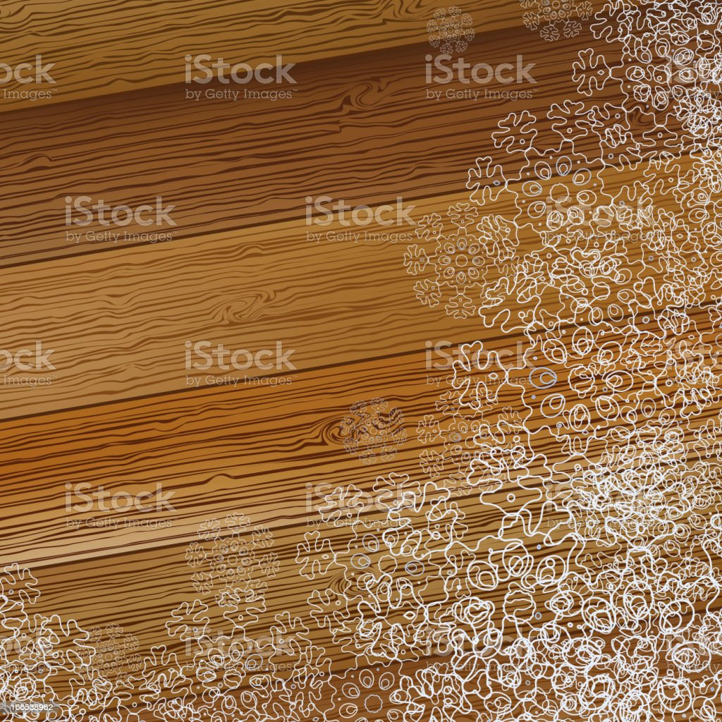 Christmas snowflake on a wooden background.  + EPS8 royalty-free stock vector art