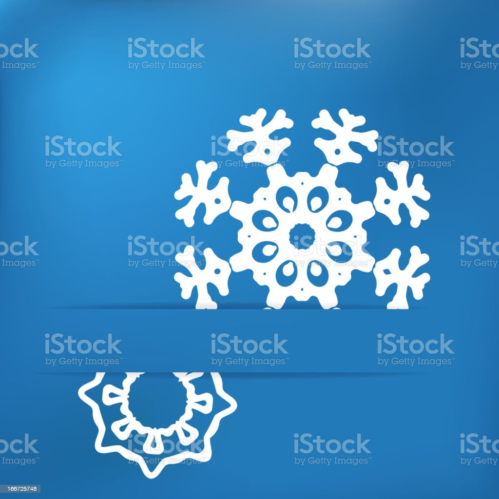 Christmas snowflake on blue . + EPS8 royalty-free stock vector art