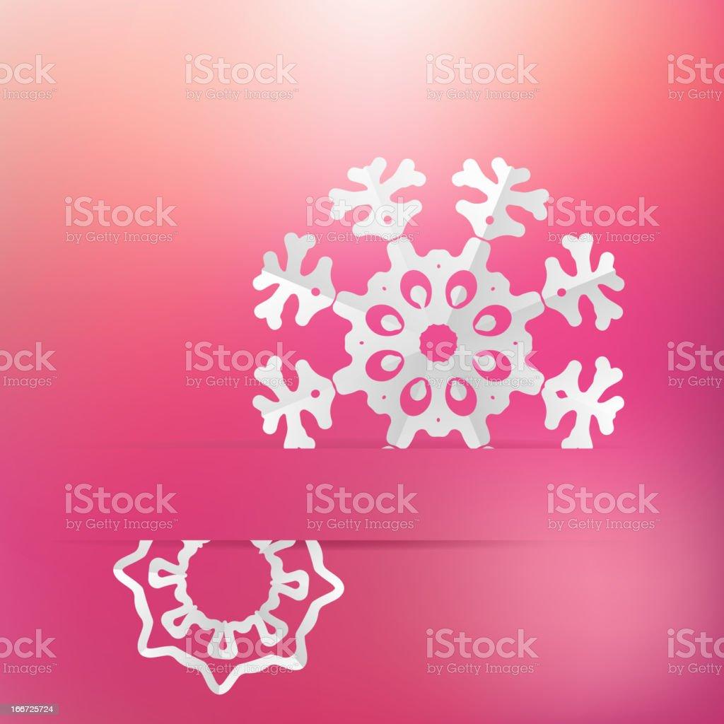 Christmas snowflake on pink purple . + EPS8 royalty-free stock vector art