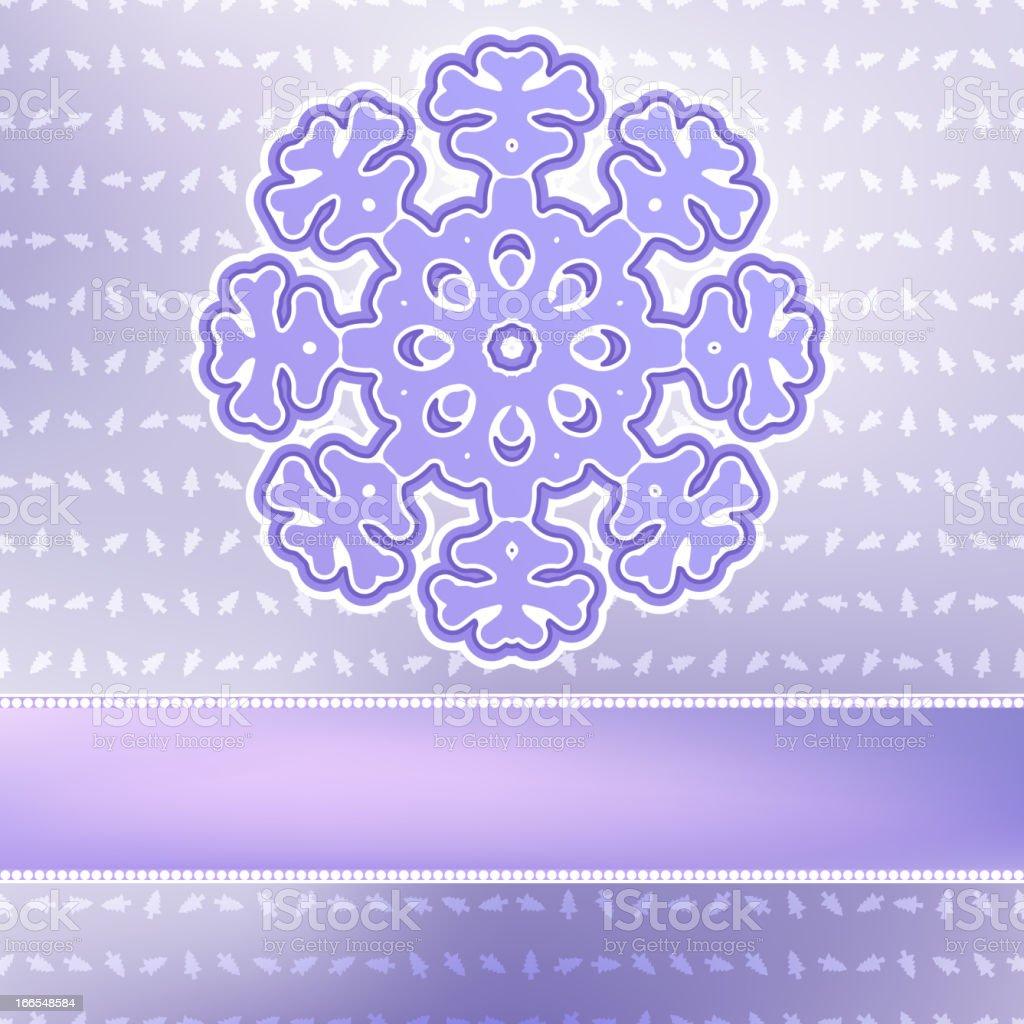 Christmas snowflake on red purple . + EPS8 royalty-free stock vector art