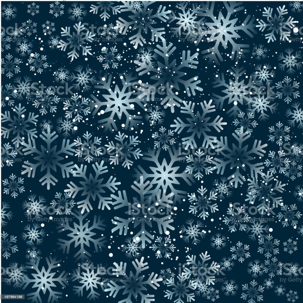 Christmas snowflakes background vector art illustration