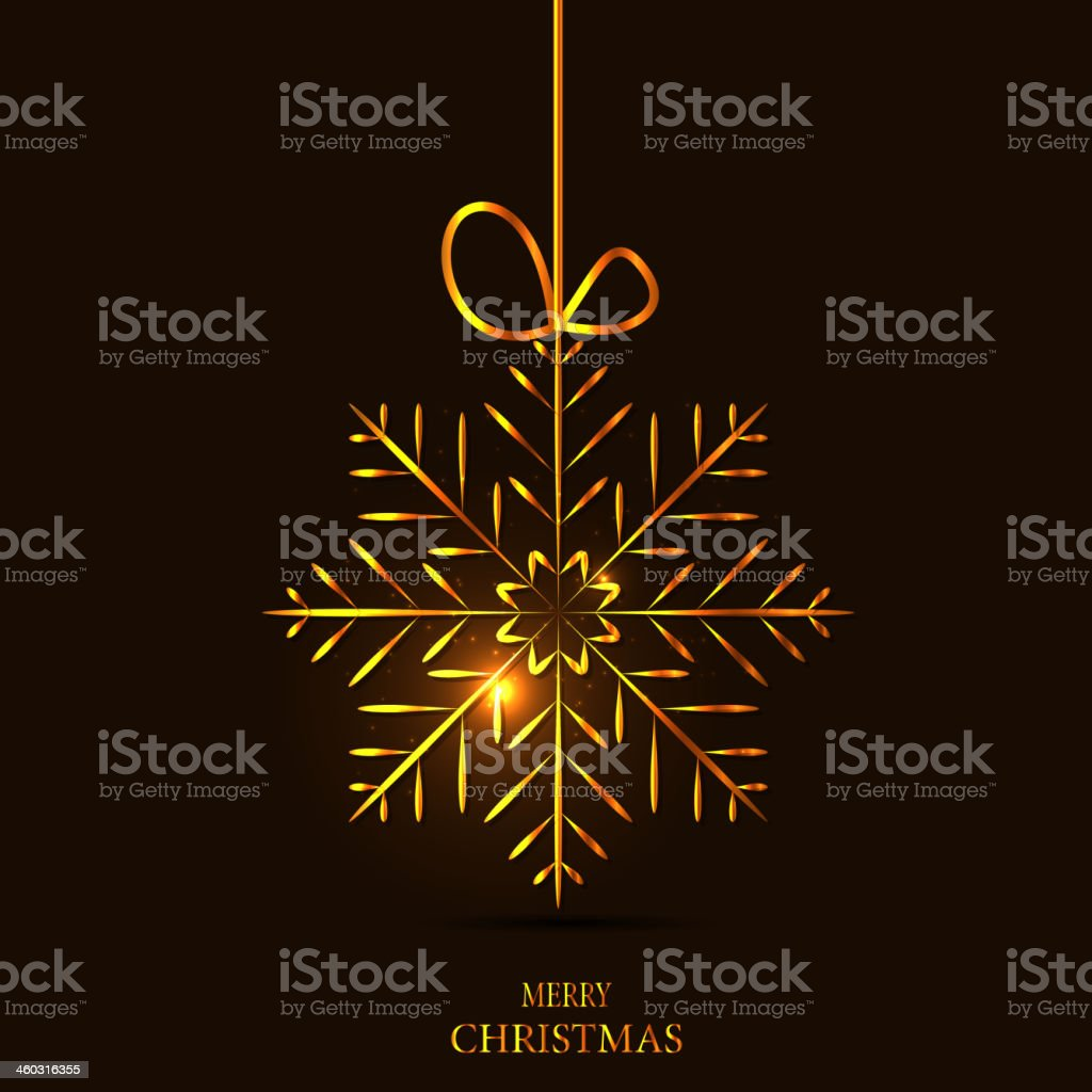 Christmas snowflakes background vector illustration royalty-free stock vector art