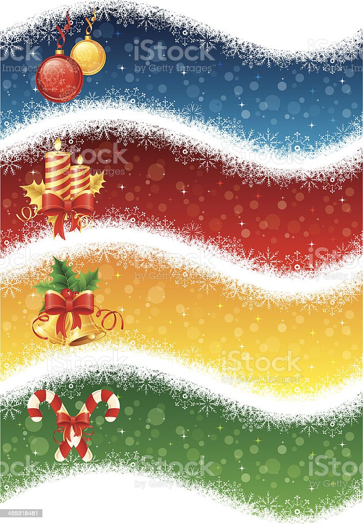 Christmas snowflakes banners royalty-free stock vector art