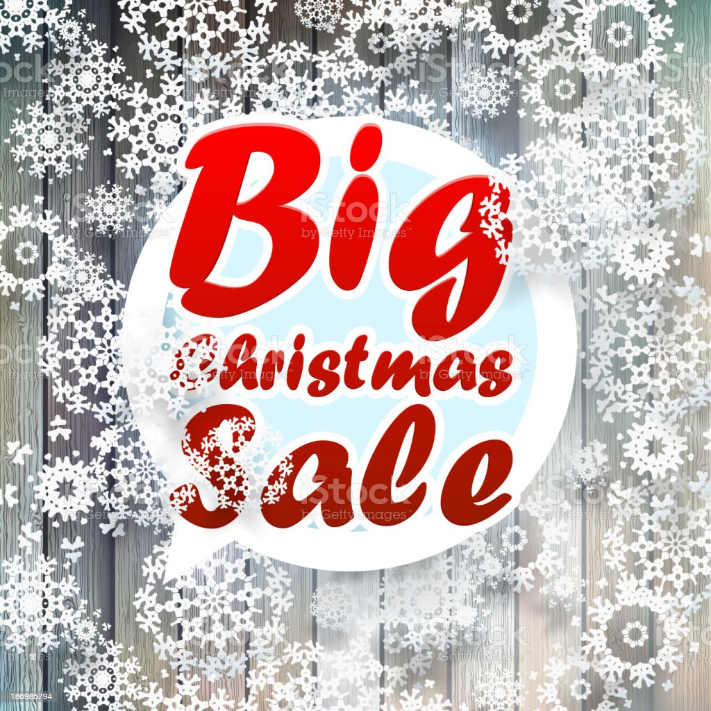 Christmas snowflakes with big sale. royalty-free stock vector art