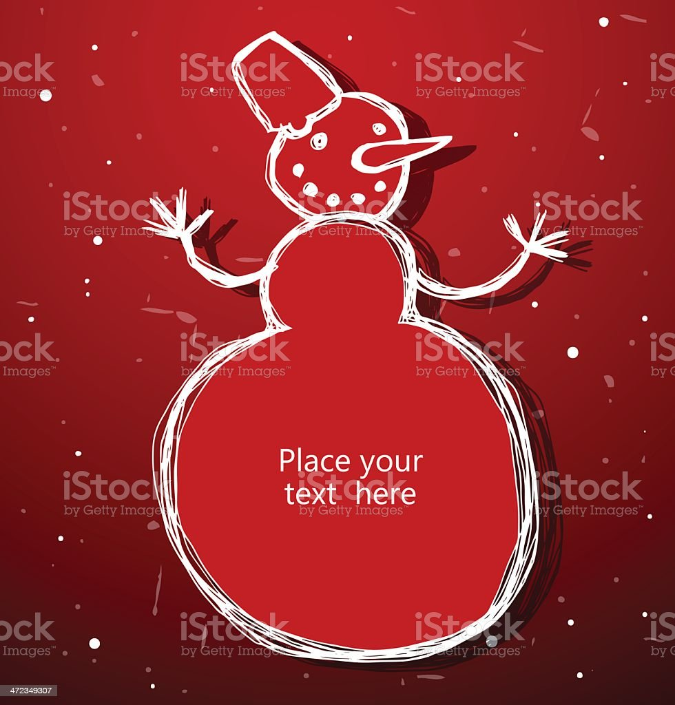 Christmas snowman banner royalty-free stock vector art