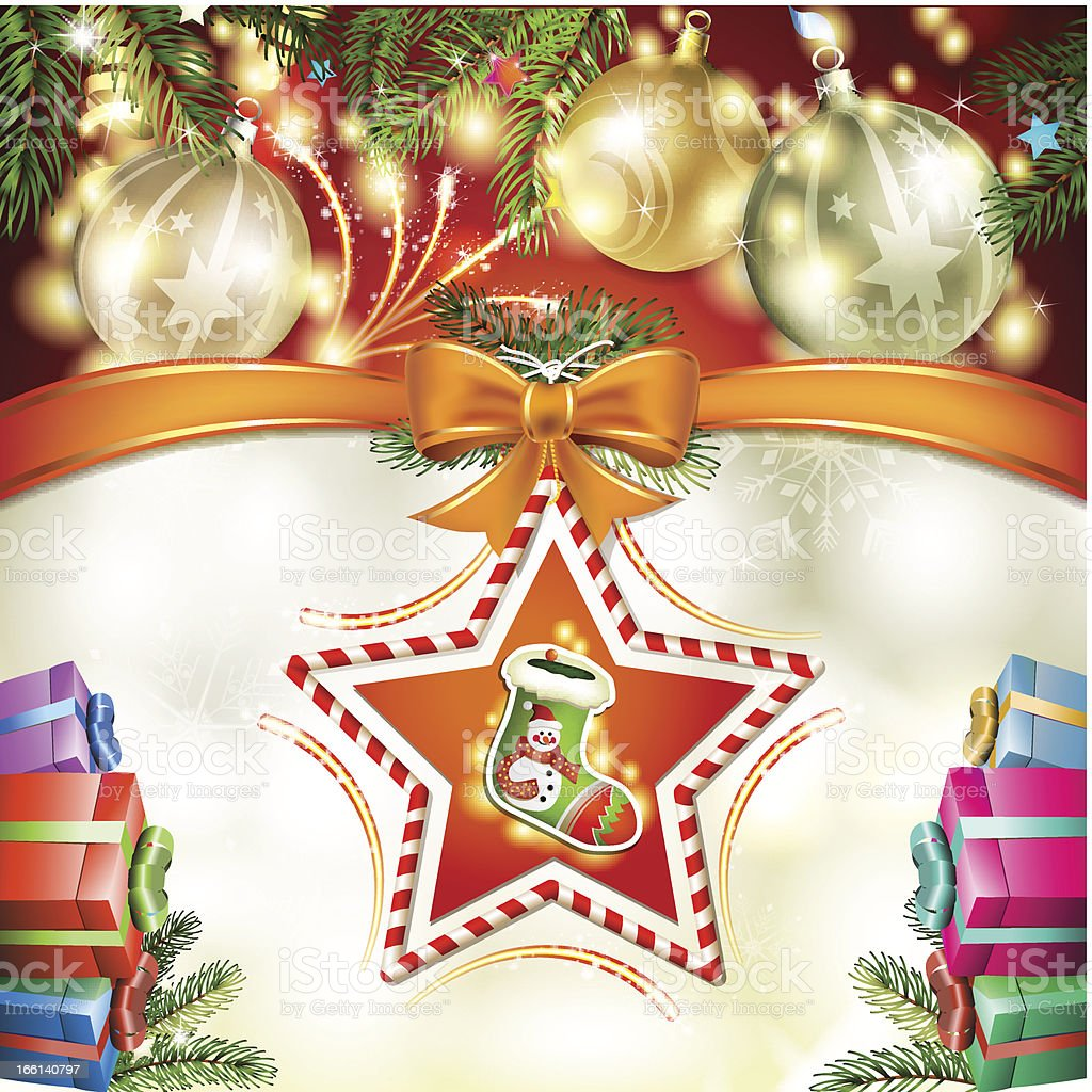 Christmas sock royalty-free stock vector art