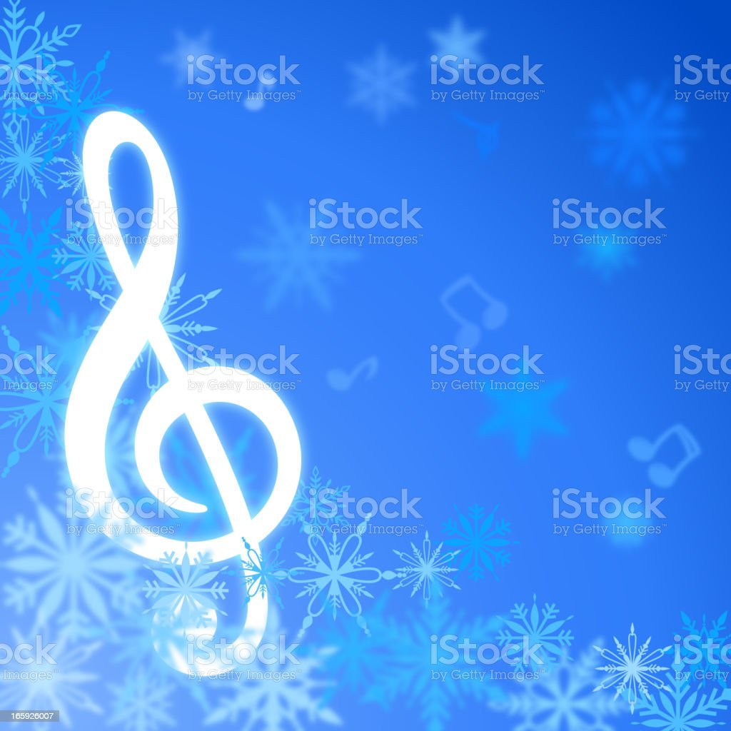 Christmas Song vector art illustration