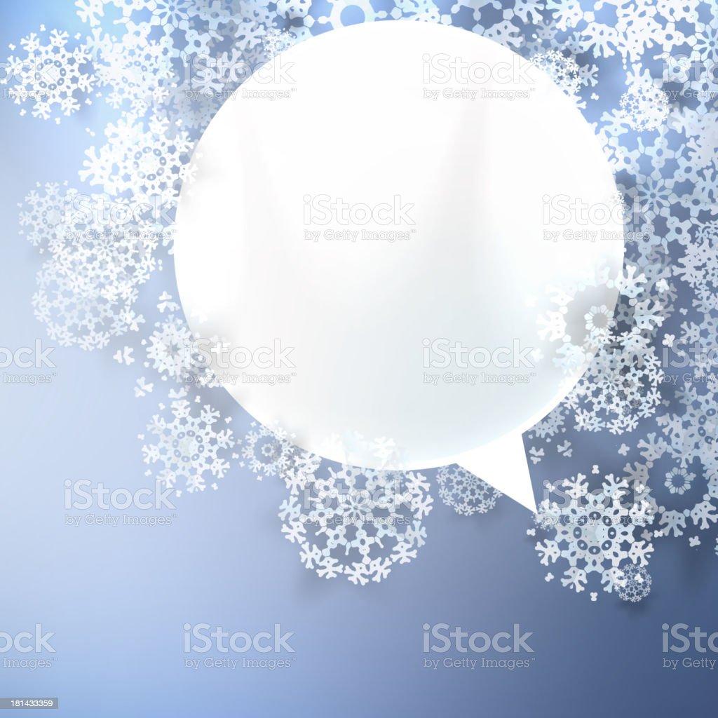 Christmas speech bubbles. royalty-free stock vector art