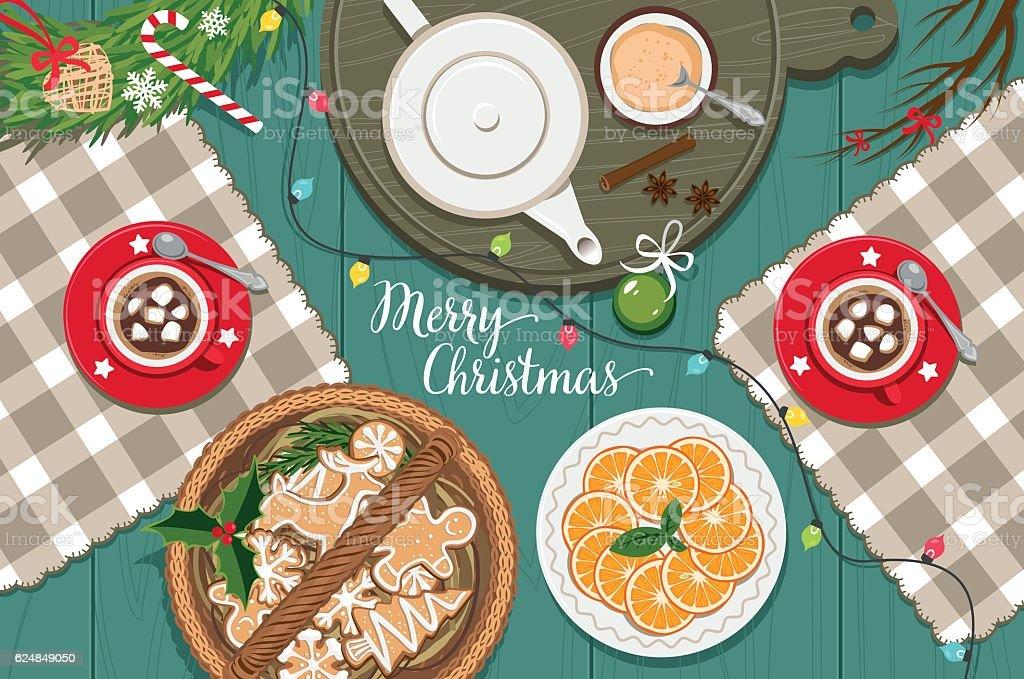 Christmas spirit vector art illustration