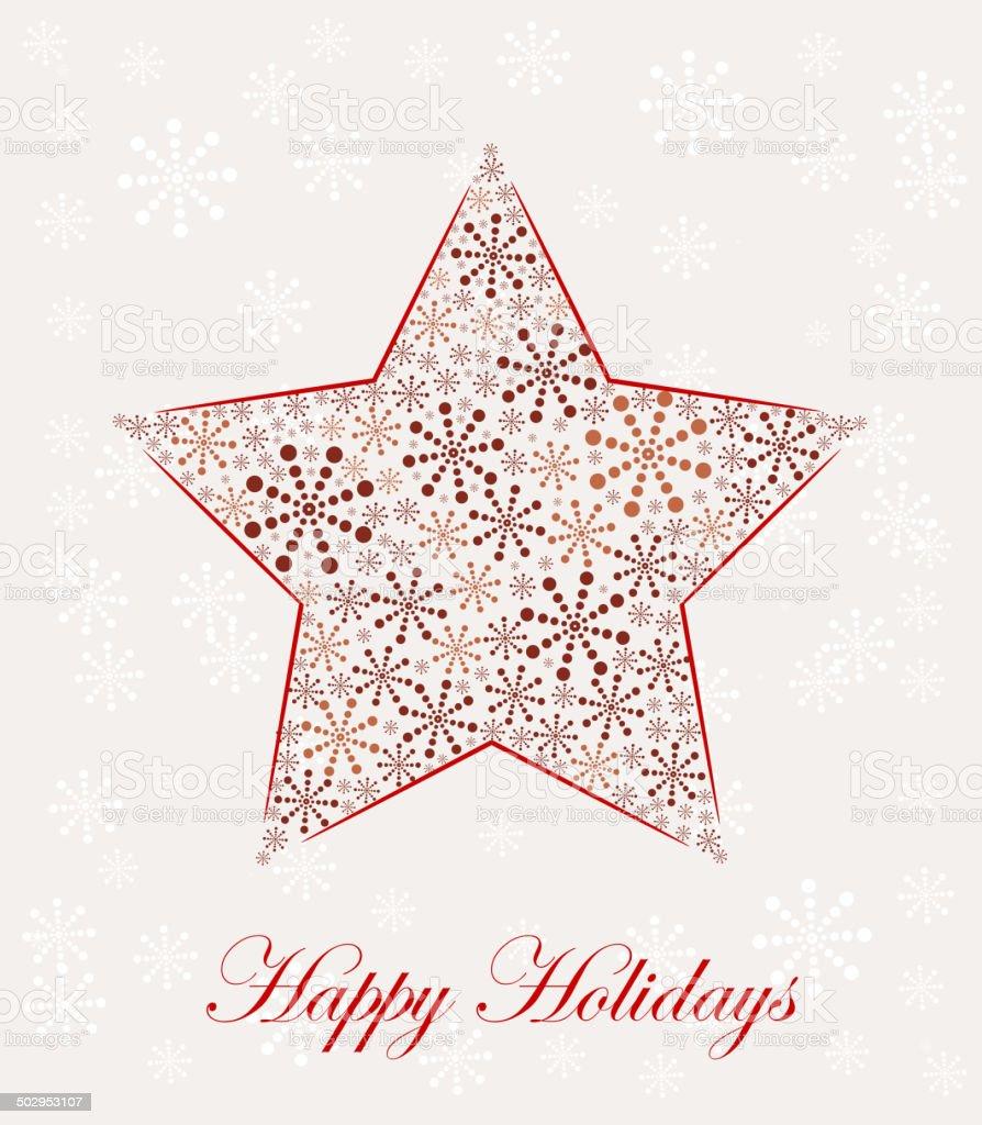 Christmas star made from snowflakes, vector illustration vector art illustration