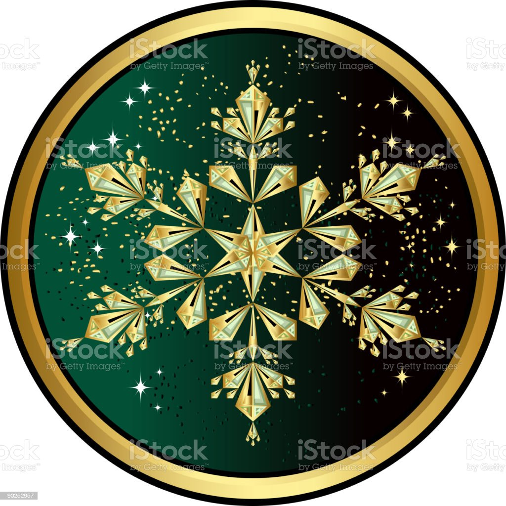 Christmas Star made of Gold and Emeralds royalty-free stock vector art