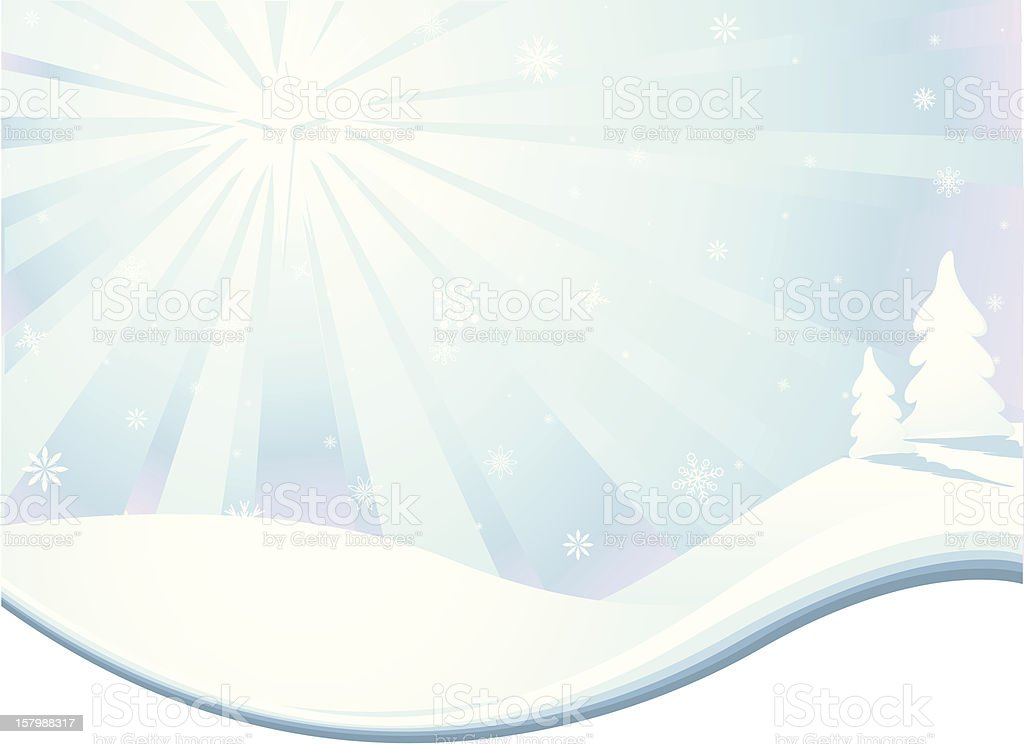 Christmas Star Over a Snowy Landscape royalty-free stock vector art