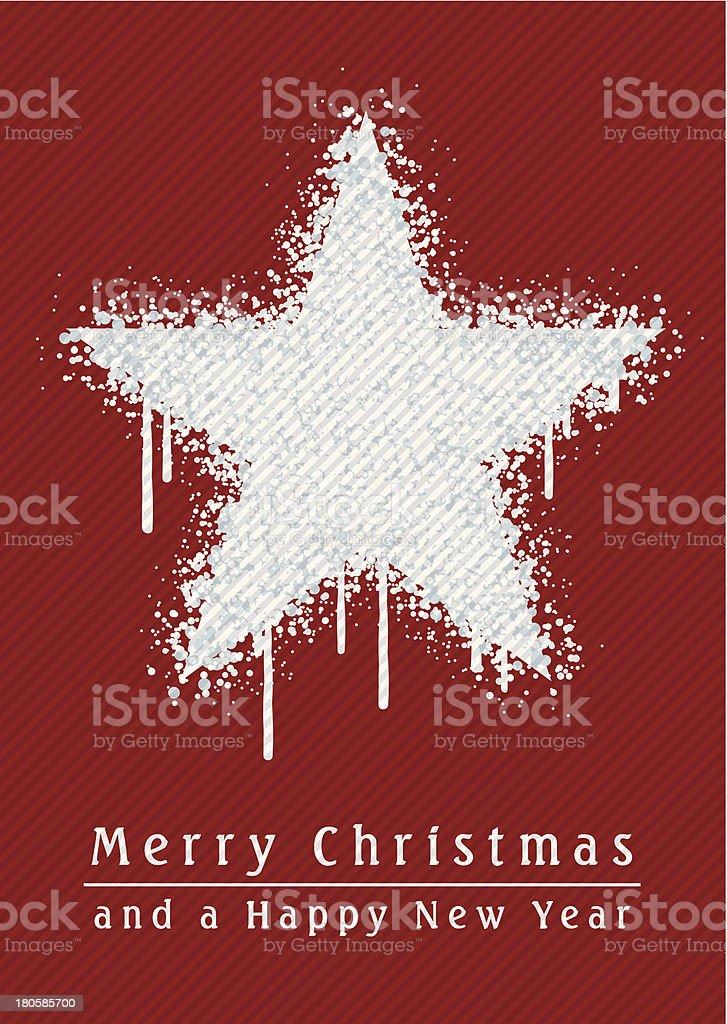Christmas Star Paint Graffiti Grunge Vertical Red royalty-free stock vector art