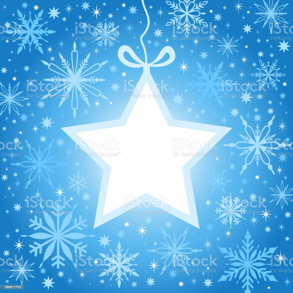 Christmas Star & Snowflakes vector art illustration