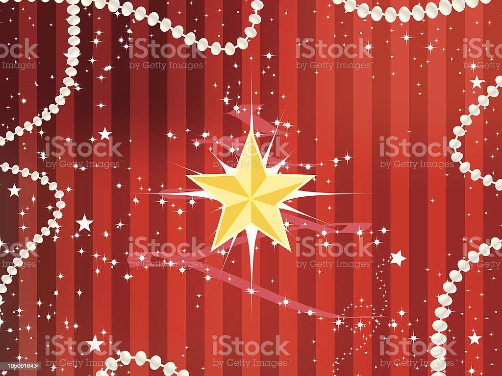 Christmas Star Striped Background vector art illustration