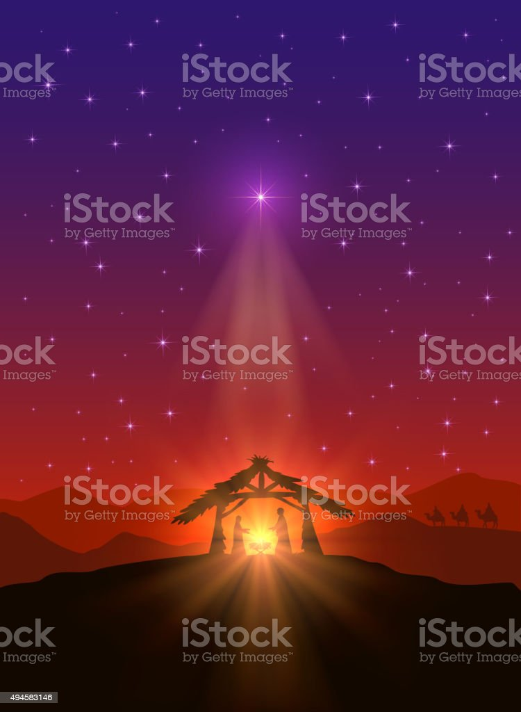 Christmas star vector art illustration