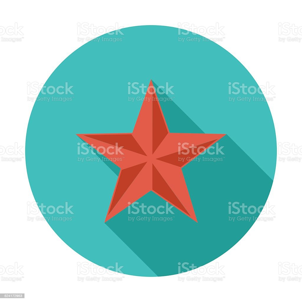 Christmas star vector art illustration
