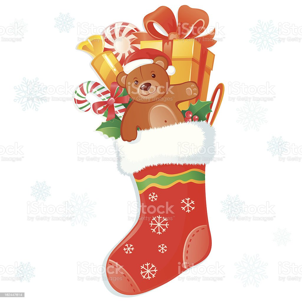 Christmas stocking royalty-free stock vector art