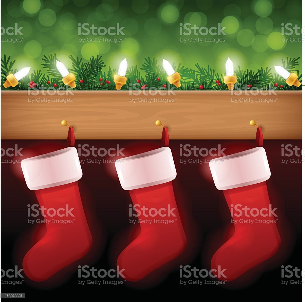Christmas Stockings vector art illustration