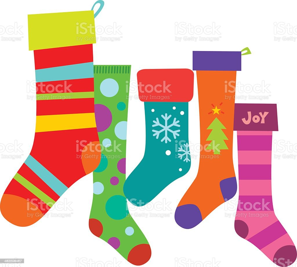 Christmas Stockings royalty-free stock vector art