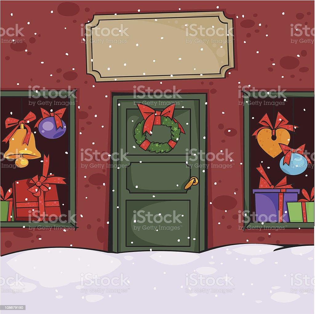 Store Doors Clipart christmas facade store door clip art, vector images