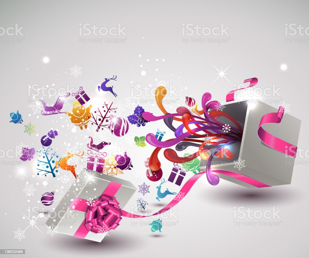 Christmas Surprise. royalty-free stock vector art