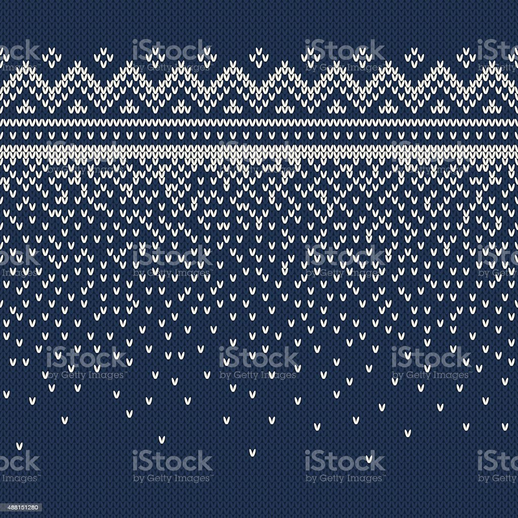 Christmas Sweater Design. Seamless Knitting Pattern vector art illustration