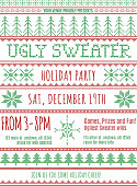 Christmas sweater party invitation