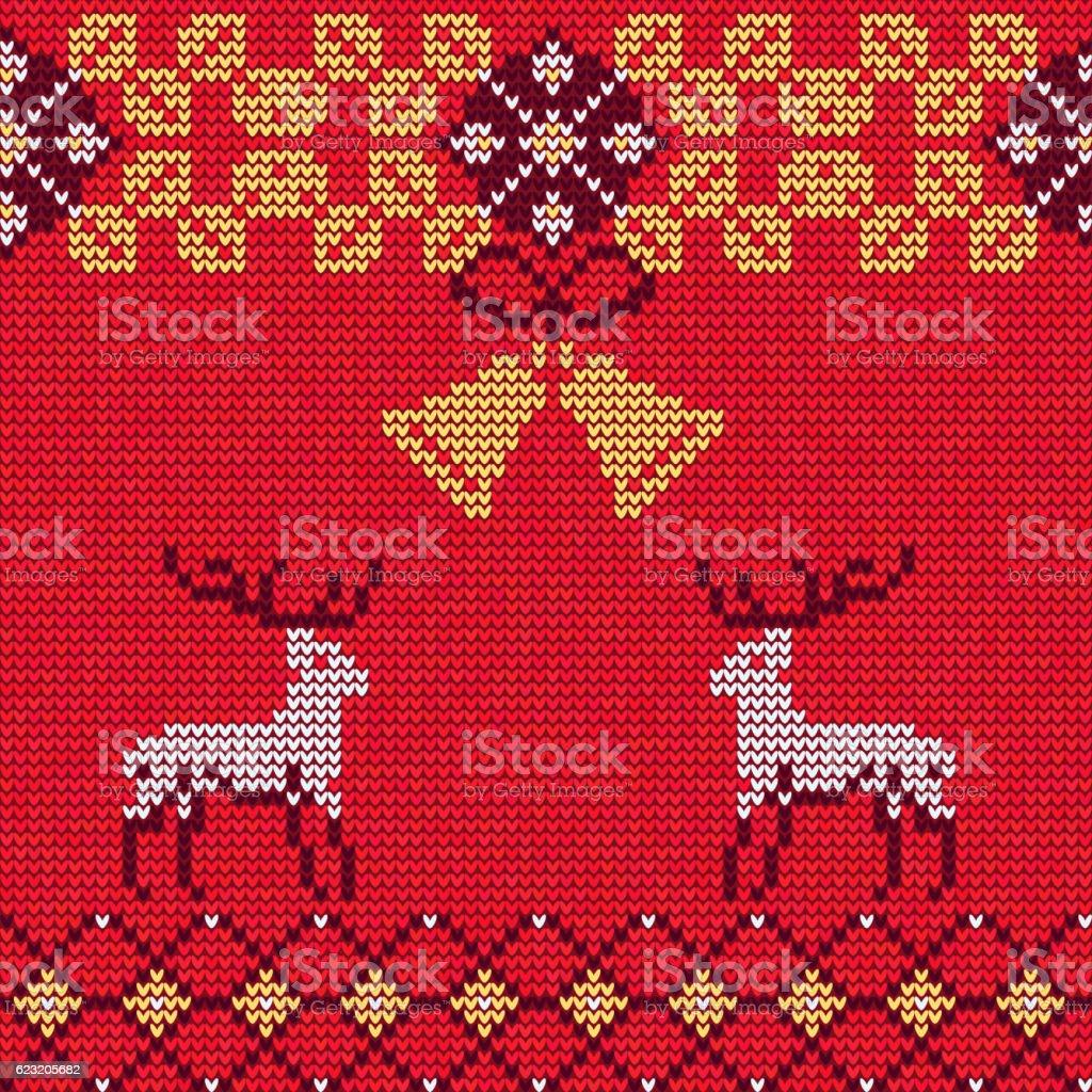 Christmas Sweater Pattern 12 vector art illustration