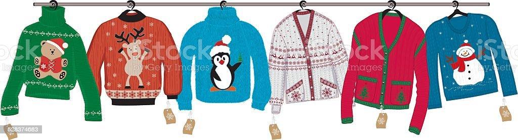 Christmas sweaters vector art illustration
