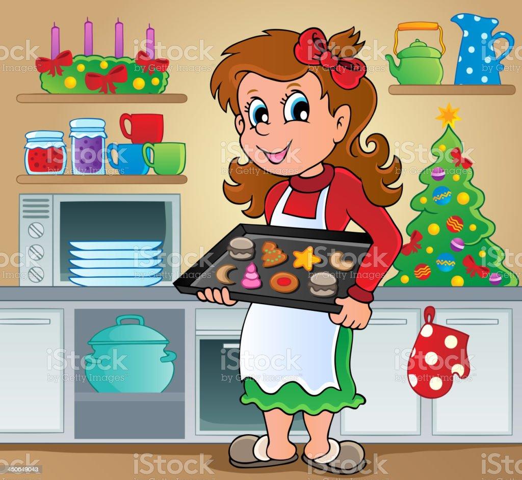 Christmas sweets theme image 2 royalty-free stock vector art
