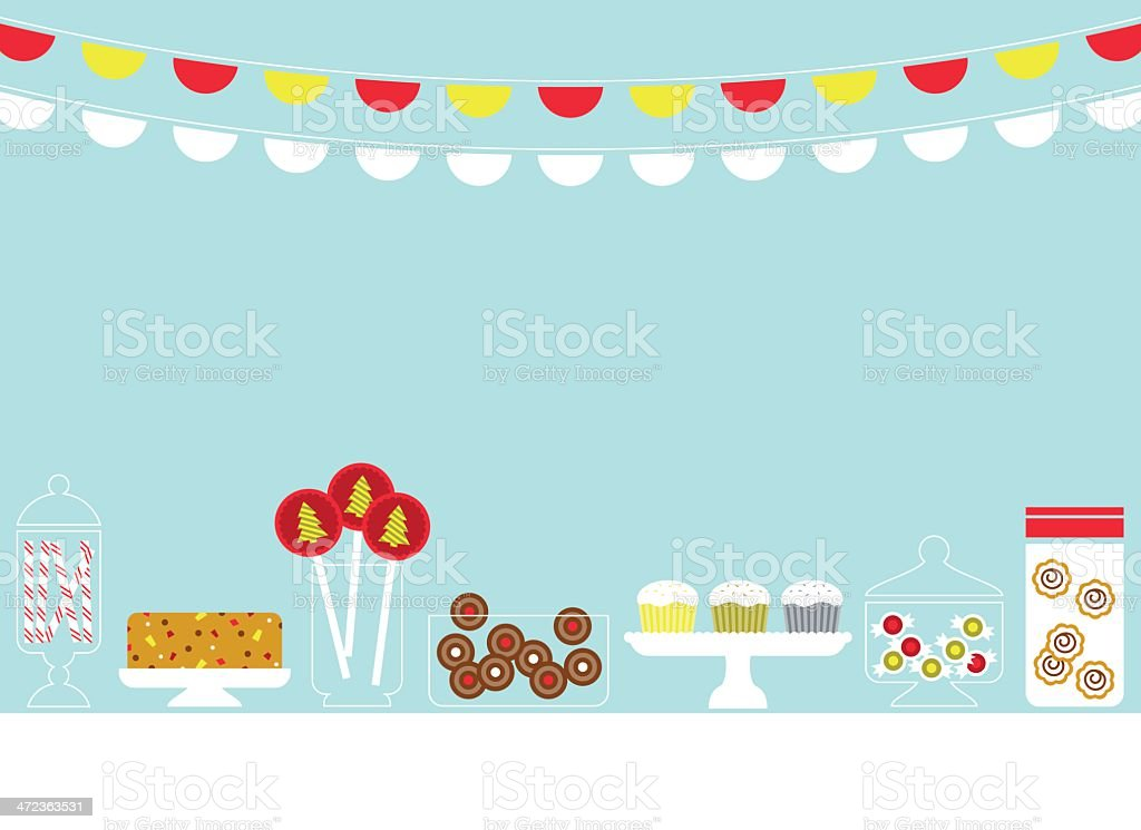 Christmas Sweets vector art illustration