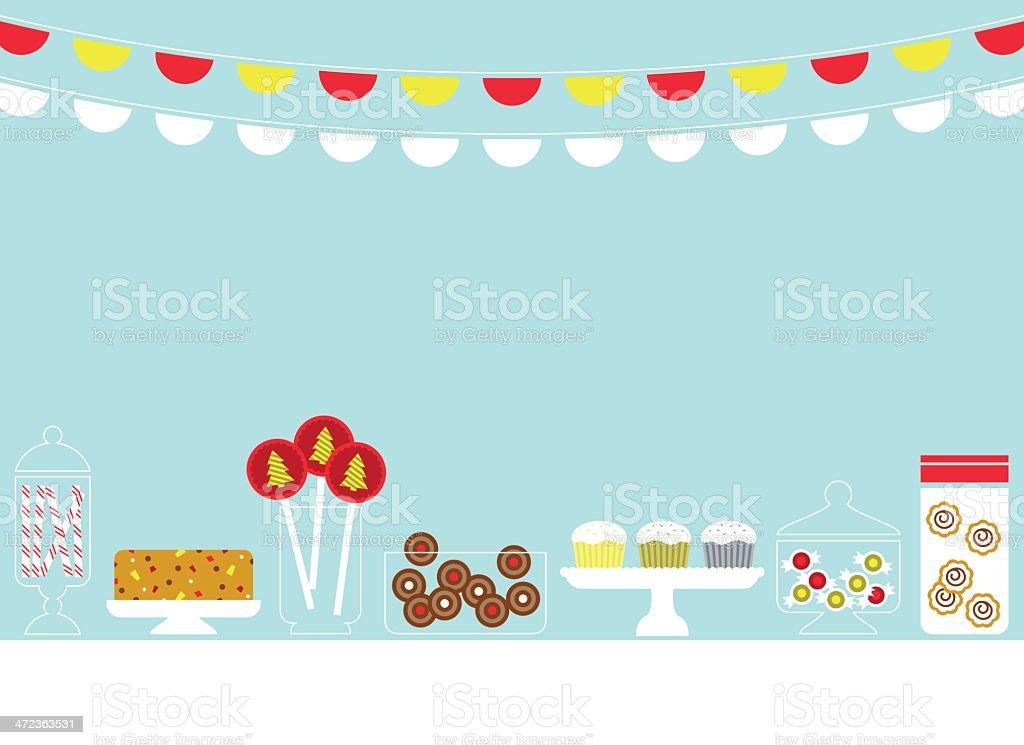 Christmas Sweets vector art illustration