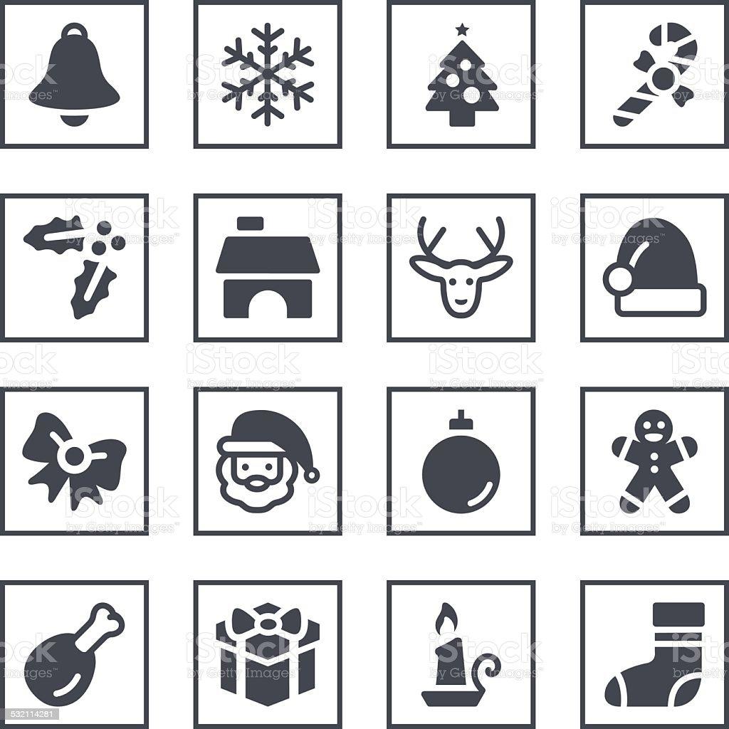 Christmas Symbols vector art illustration