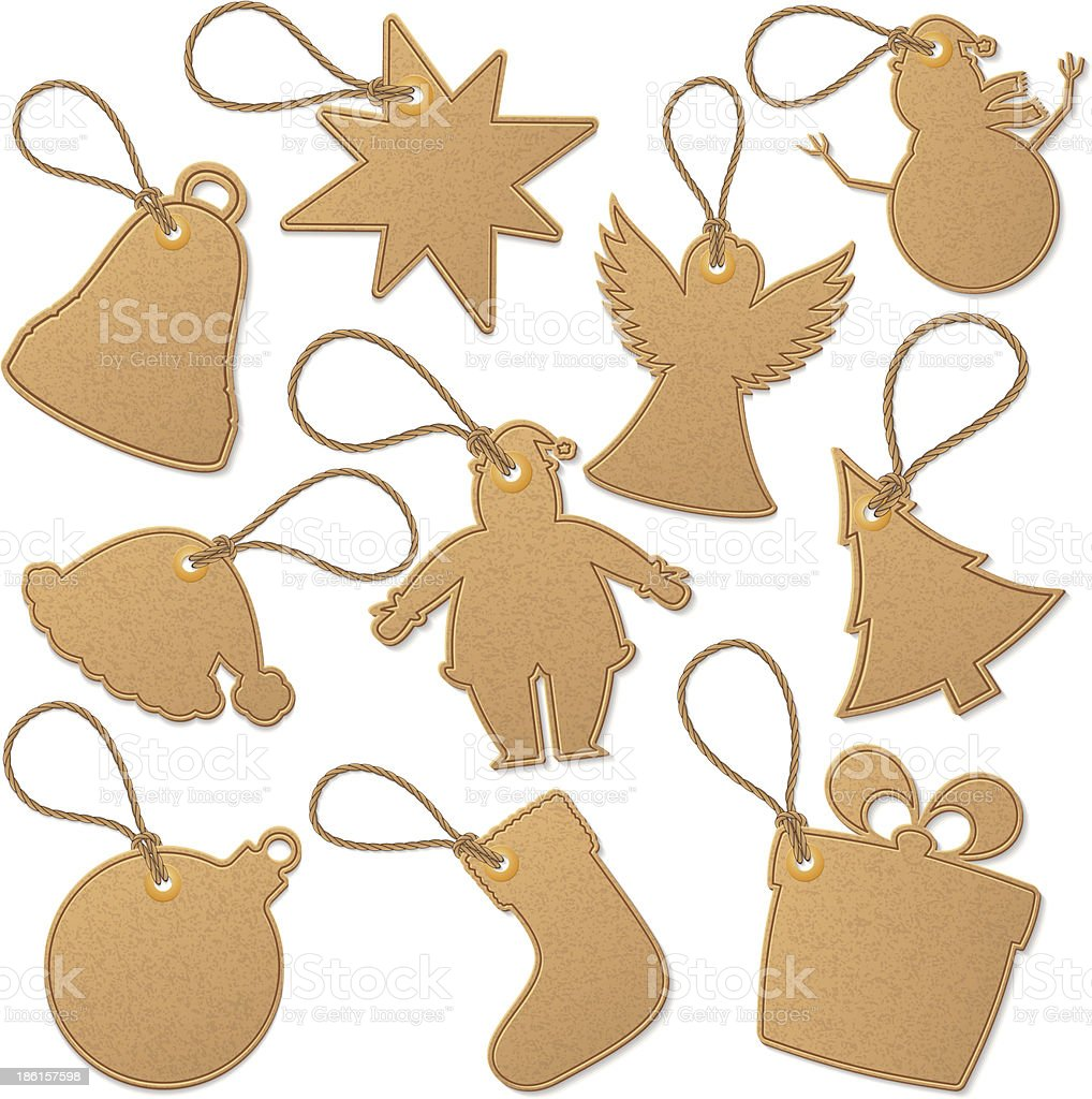 Christmas tags royalty-free stock vector art