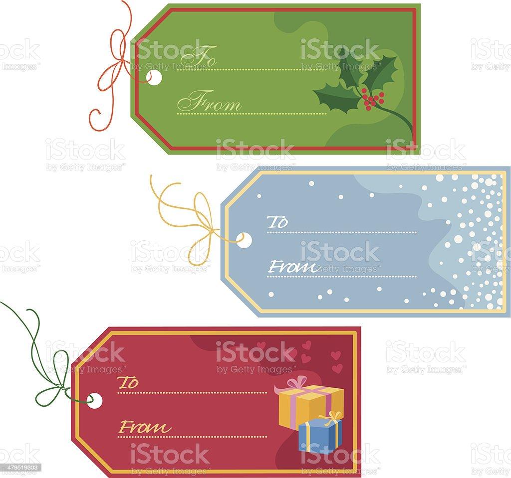 Christmas tags vector art illustration