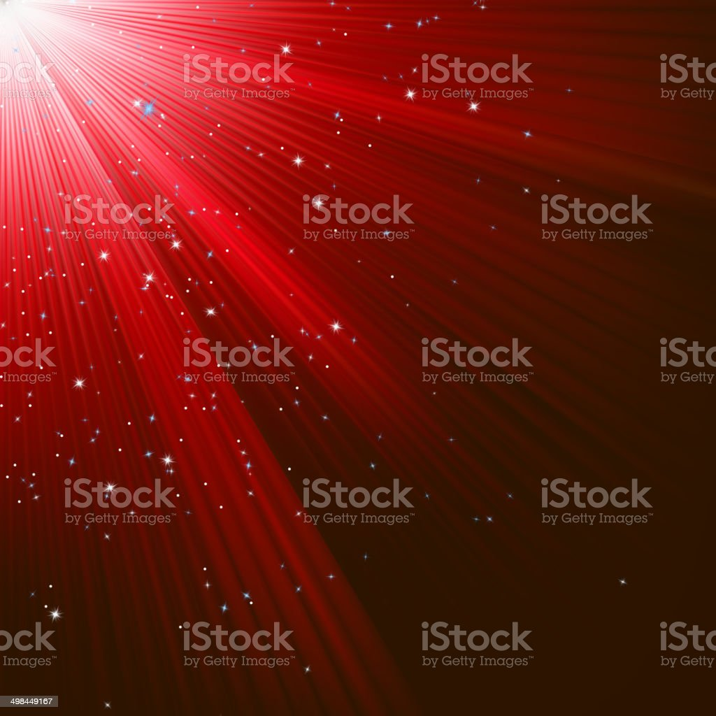 Christmas texture with stars and rays. EPS 8 royalty-free stock vector art