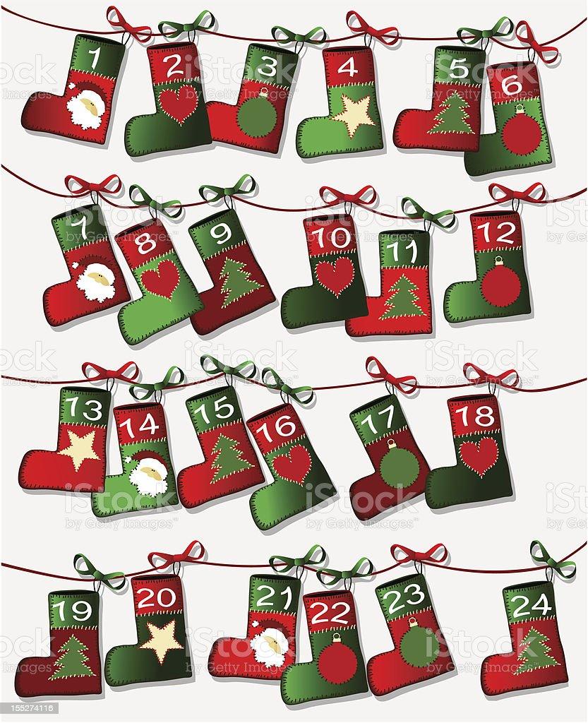 Christmas themed calendar page royalty-free stock vector art