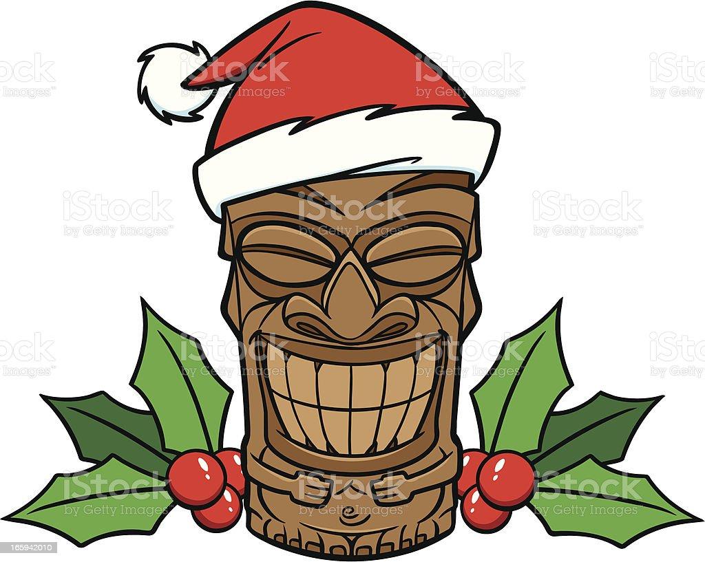 Christmas Tiki royalty-free stock vector art