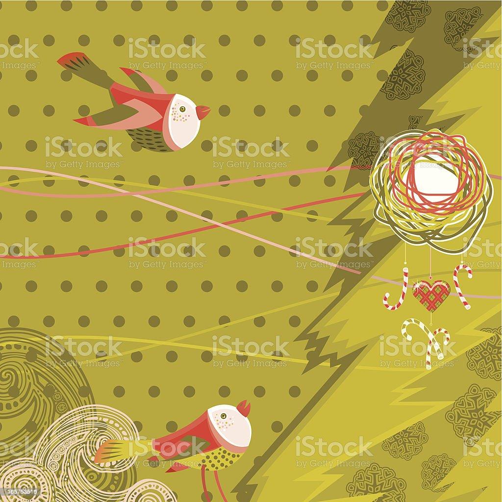 Christmas Time Birds royalty-free stock vector art