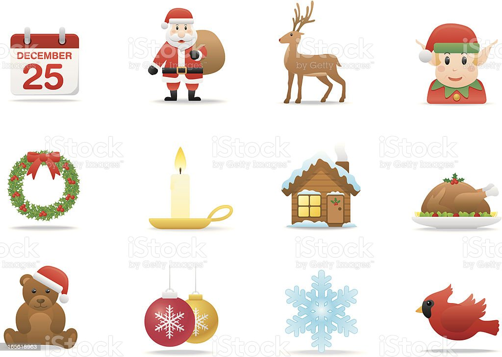 Christmas Time icons | Premium Matte series royalty-free stock vector art