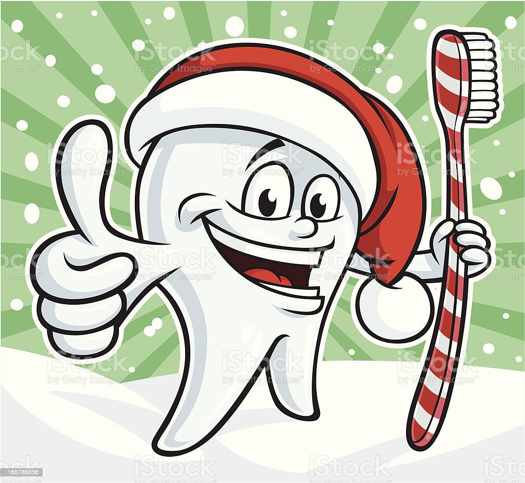 Tooth Cartoon With Thumb Up Clip Art, Vector Images