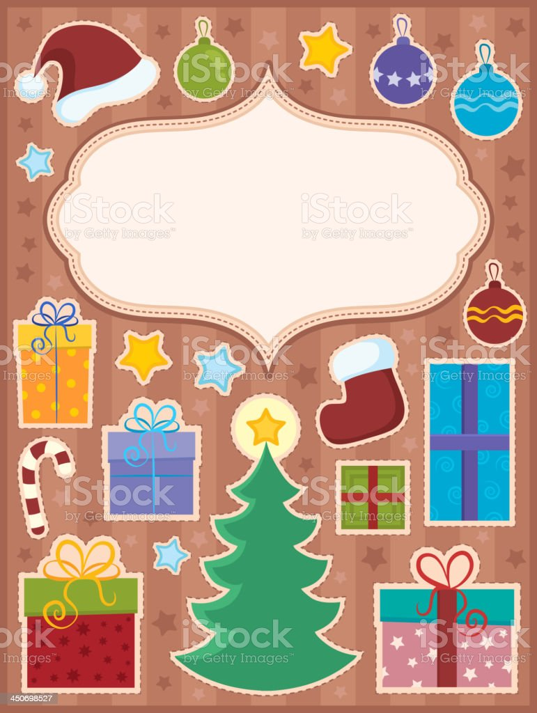 Christmas topic composition 1 royalty-free stock vector art