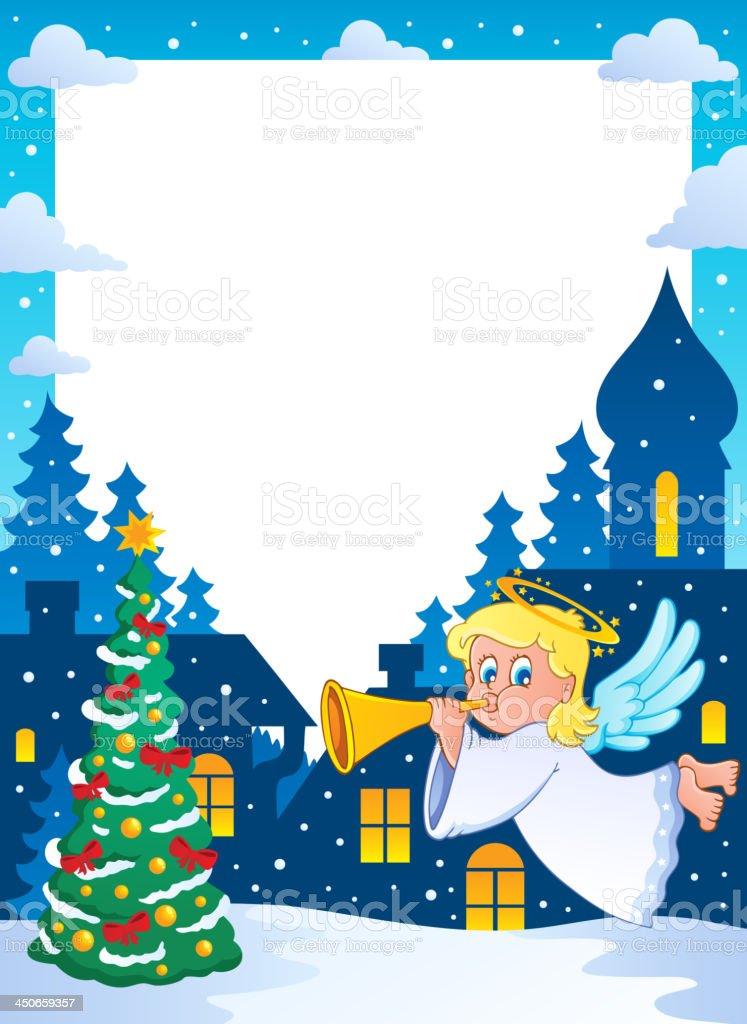 Christmas topic frame 2 royalty-free stock vector art