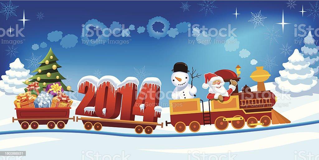 Christmas train royalty-free stock vector art