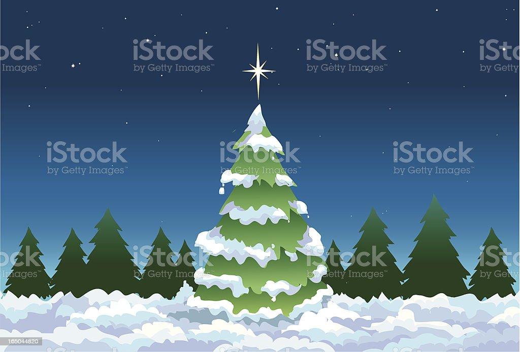 christmas tree 4 royalty-free stock vector art
