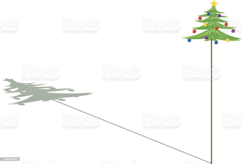 Christmas tree and its shadow royalty-free stock vector art