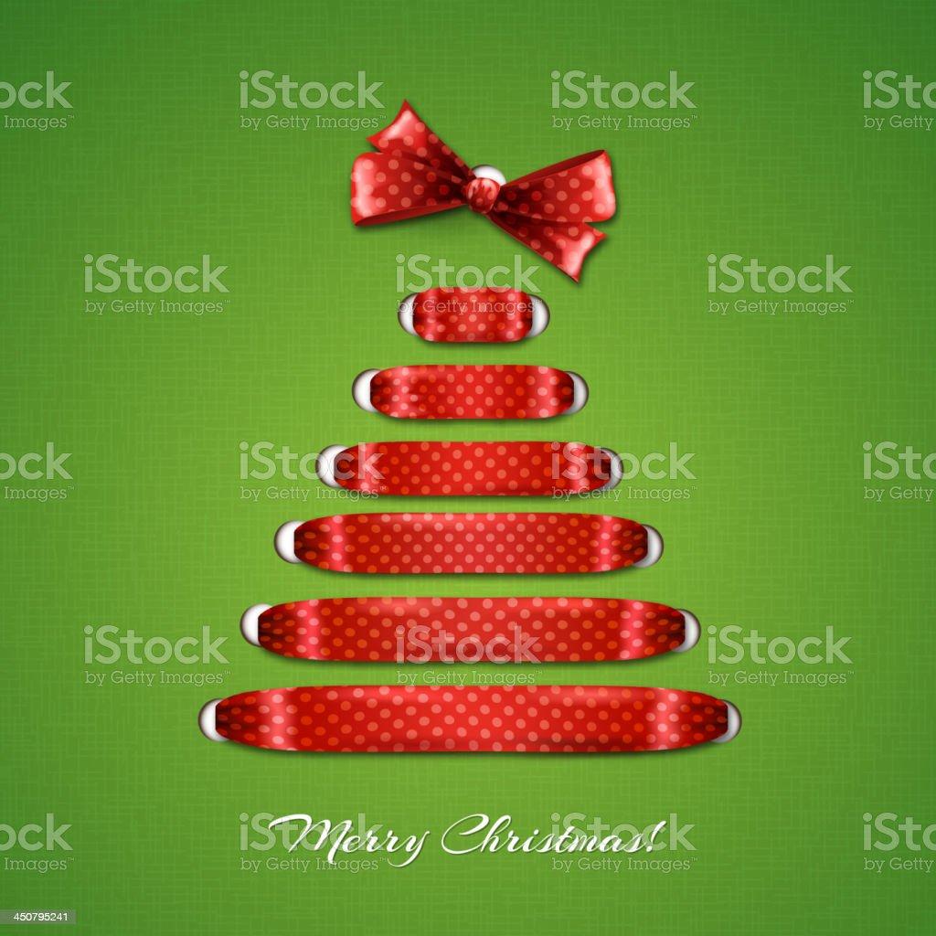 Christmas tree and ribbon royalty-free stock vector art