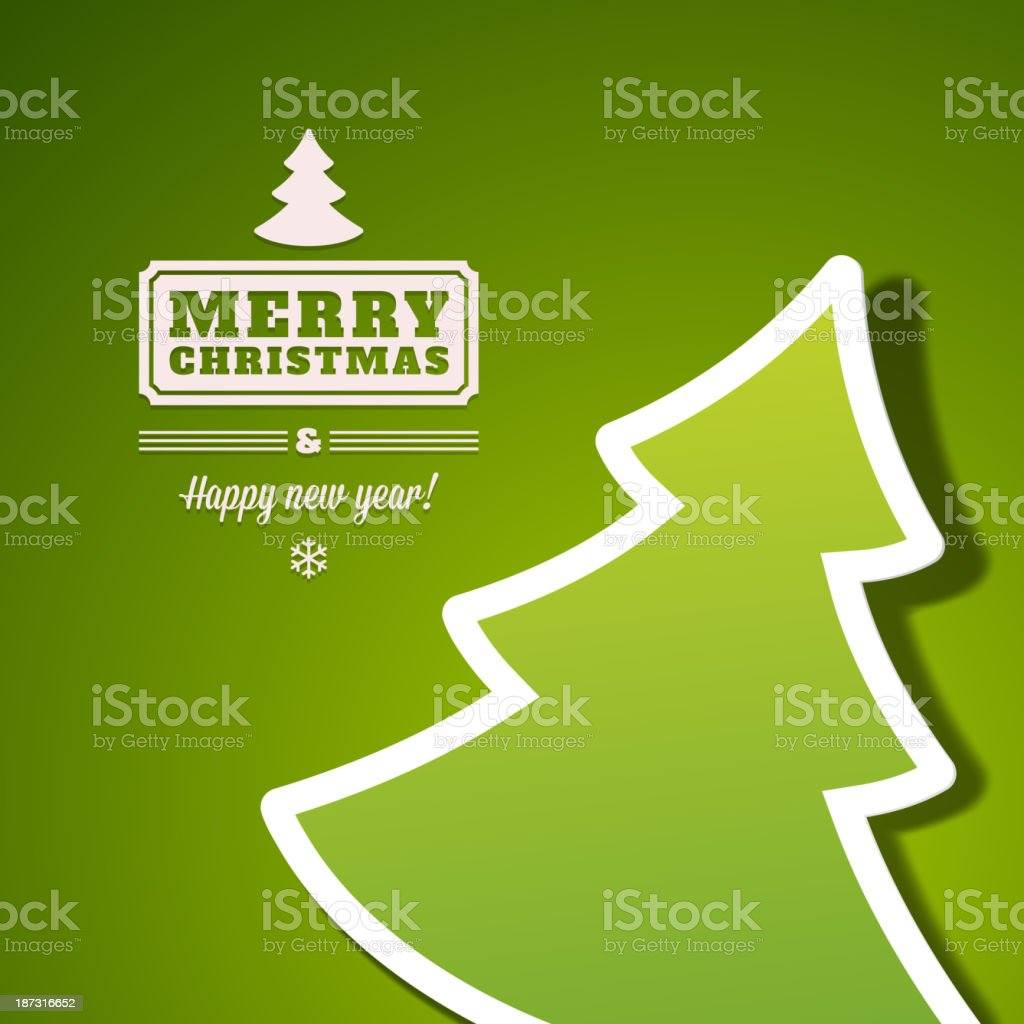 Christmas tree applique vector background vector art illustration