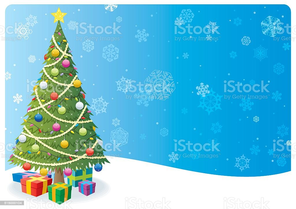 Christmas Tree Background 1 vector art illustration